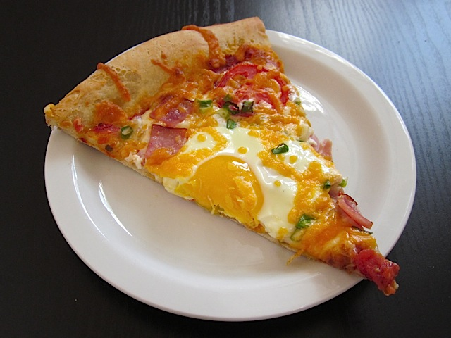 Breakfast Pizza Slice
