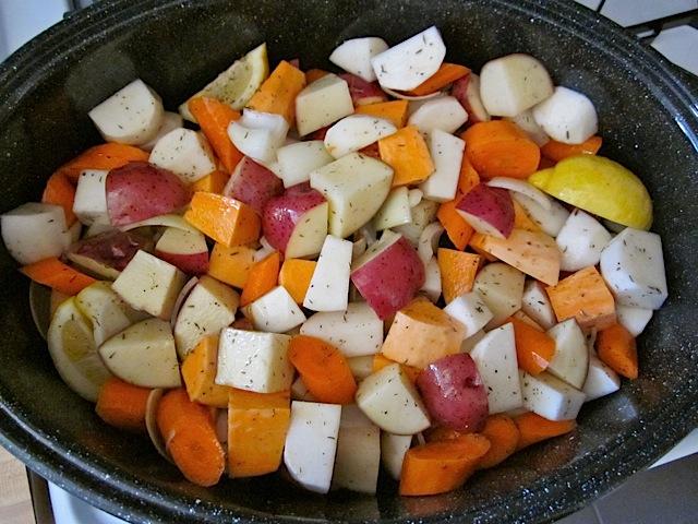 seasoned vegetables