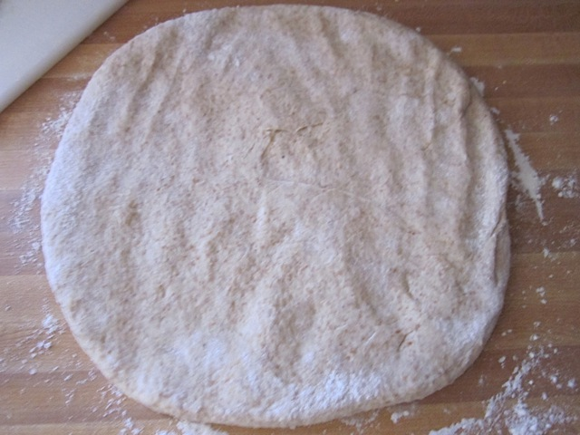 press out dough