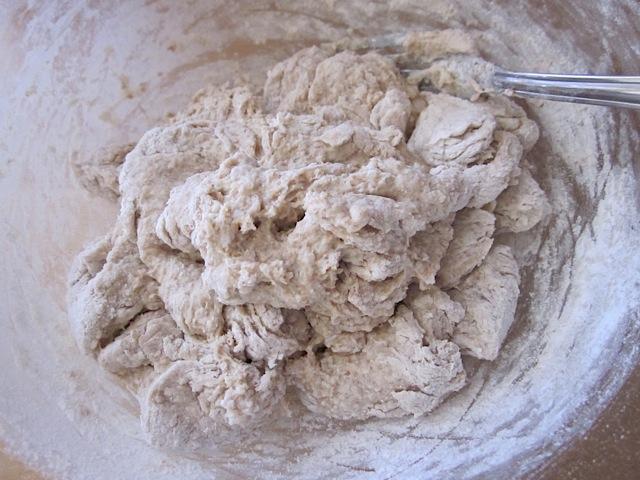 loose ball of mixed dough