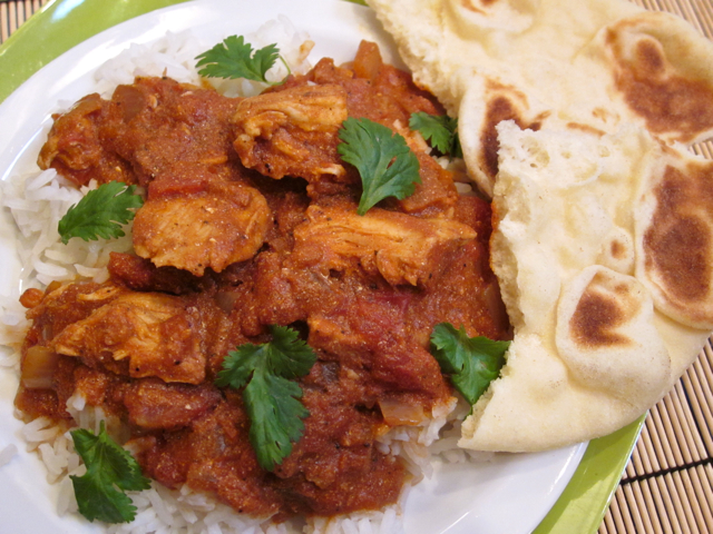 not butter chicken Indian naan
