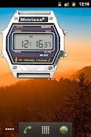 Screenshot of Montana clock
