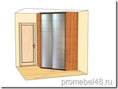 проект вместительного углового шкафа