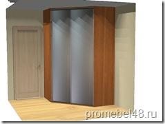 дизайн-проект углового шкафа купе