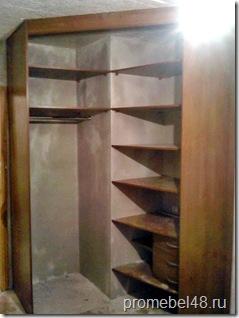 шкаф угловой внутри
