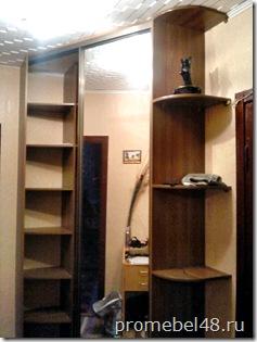 угловой шкаф в коридор-фото