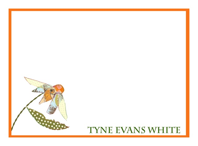 Flower stationary white border copy