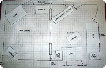 graph paper floor plan 3