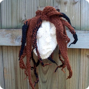 shrunken head before fulling