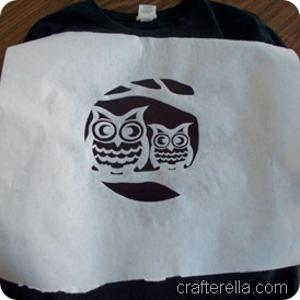 full moon owl stencil 2