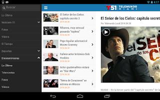 Screenshot of Telemundo 51