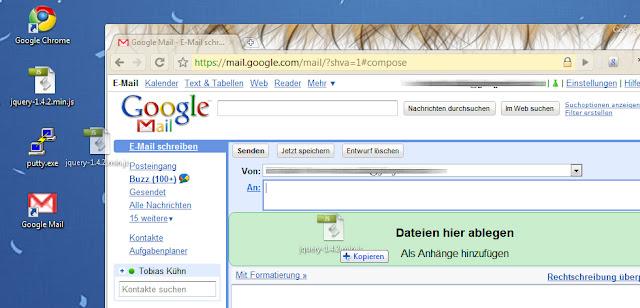 Google Mail: Drag&Drop Anhänge