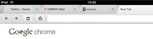 Könnte so Chrome auf dem iPad aussehen?