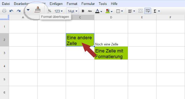 Google Docs: Format übertragen