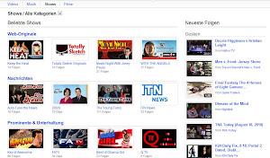 YouTube Shows: Sehen, wann was hinzugefügt wurde