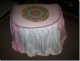Pinned Ottoman Cover