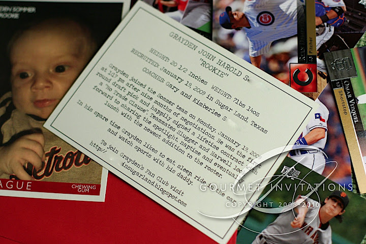 Baseball Cards Authentic By Adding The Most Adorable Wording For Back If You Cant Read It Be Sure To Click On Picture Get A Larger View