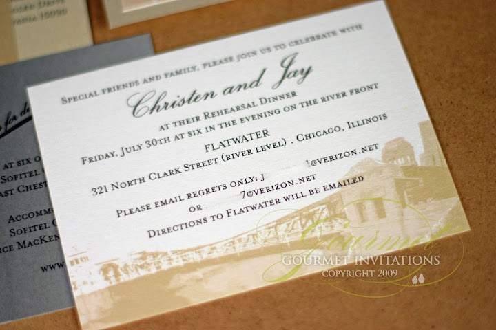 Chicago Themed Wedding Invitations: Christen + Jay: Chicago Skyline Wedding Invitations
