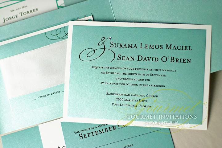 su sean tiffany inspired wedding invitations gourmet invitations