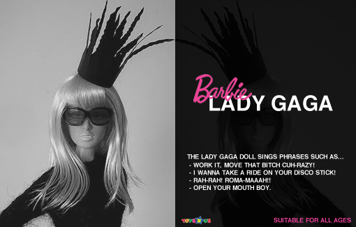 Lady Gaga Barbie: Bad romance style [Lady Gaga Barbie image used courtesy of Veik 11@ flickr]
