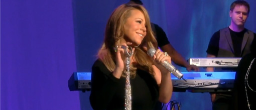 Mariah performs 'I want to know what love is' on The View