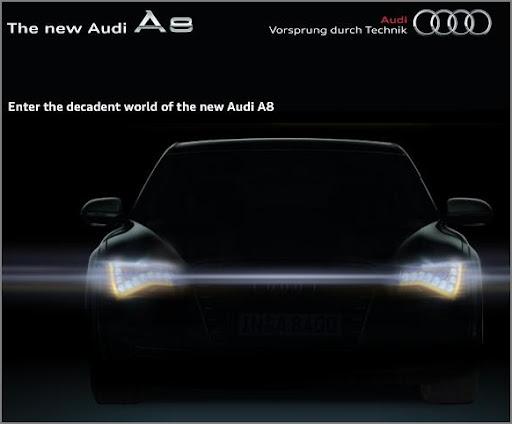 Audi A8 Indian Website Teaser