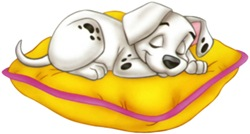 Disney-101-Dalmation-sleeping-pillow