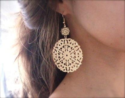 Etsy Gold Medallion Earrings