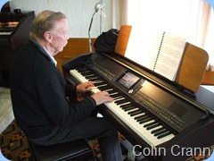 Colin Crann enjoying the Clavinova