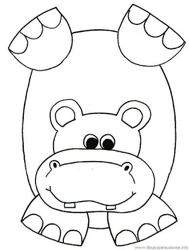 Dibujos De Hipopotamos Para Colorear