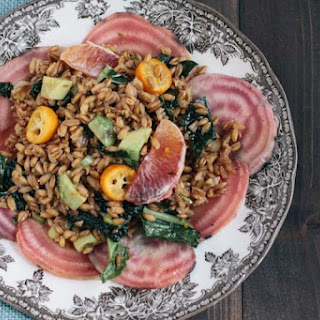 Farro Salad with Blood Oranges, Kumquats, Beets and Avocado Recipe