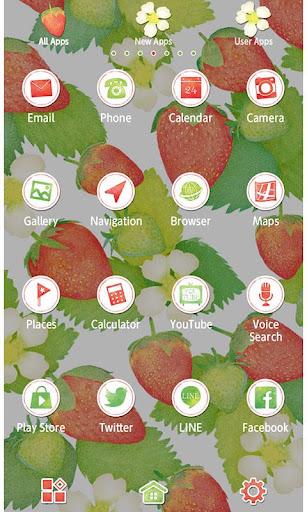 Strawberries & Flowers Theme 1.0.0 Windows u7528 2