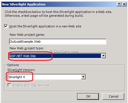 Silverlight project Type