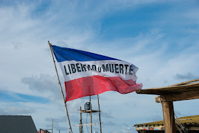 liberty or death flag in cabo polonio