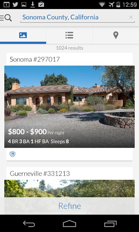 HomeAway VRBO Vacation Rentals - screenshot