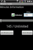 Screenshot of Minutes Tracker