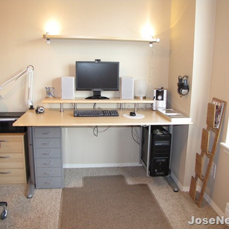 New Computer Desk Setup From Ikea Home Office