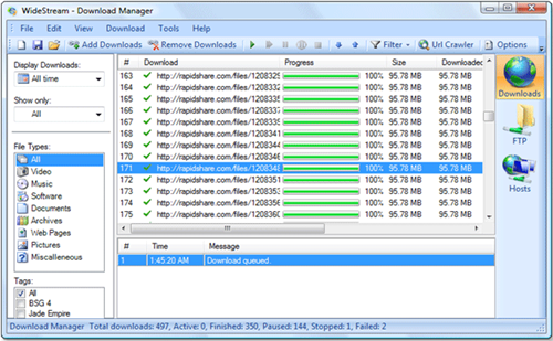 Widestream – Open source download manager and FTP explorer