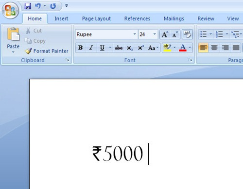 How To Type The Indian Rupee Symbol Rupee Font Psd And More