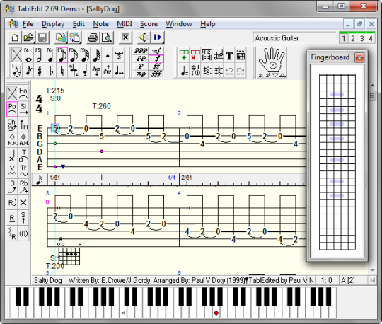 Guitar guitar tablature writer : 6 free music notation software or scorewriters for Windows (and ...