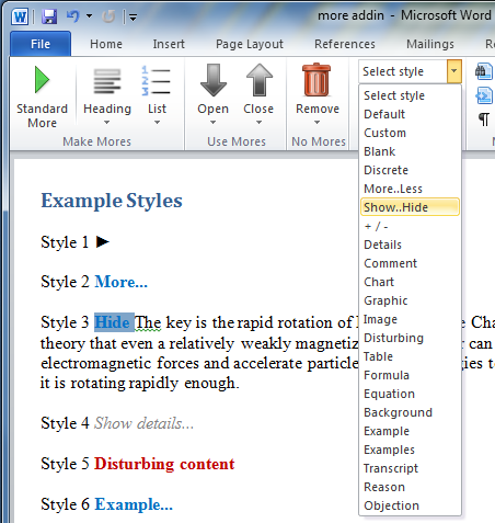 Create Collapsible Expandable Sections In Word Documents