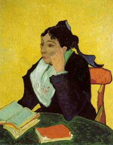 L'Arlesienne: Madame Ginoux with Books