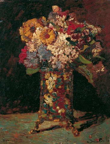 Monticelli - Vase of flowers