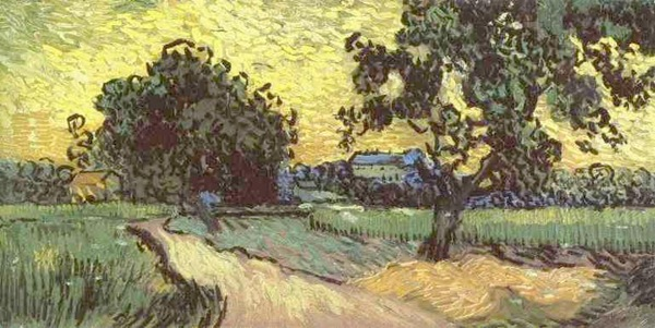 Landscape with the Chateau of Auvers at Sunset