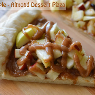 Apple Almond Dessert Pizza