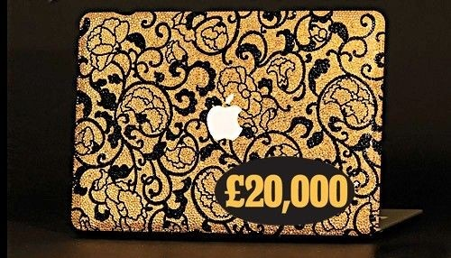 $30,500 - MacBook with crystals and gold