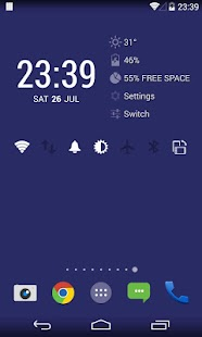 KK Widget ( DashClock + )- screenshot thumbnail
