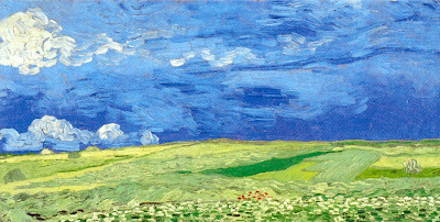 vincent van gogh, wheat field under thunderclouds, 1890