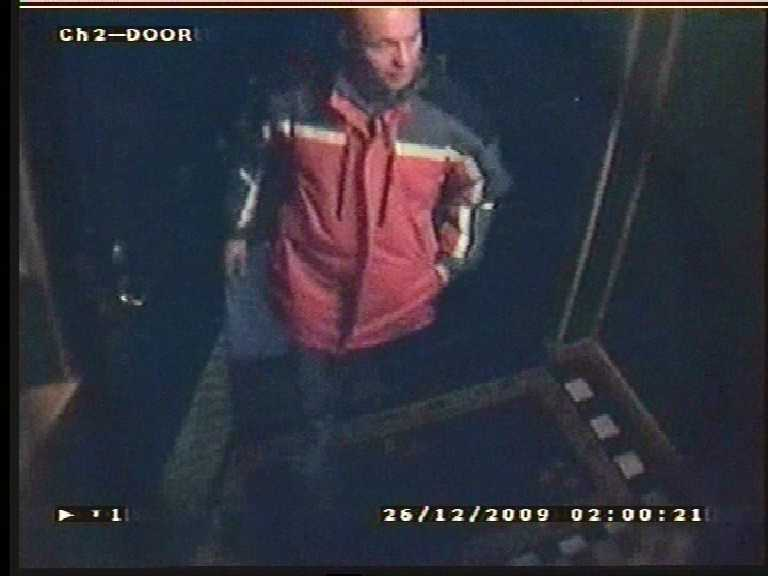 CCTV from the Coast bar, Morecambe, recorded on Boxing Day 2009