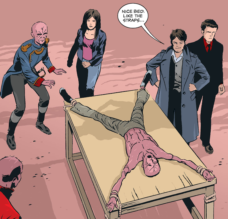 Torchwood strip drawn by Steve Yeowell